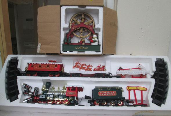 North Pole Express battery operated train set -  Christmas concert