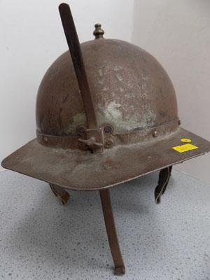 Civil War style metal helmet