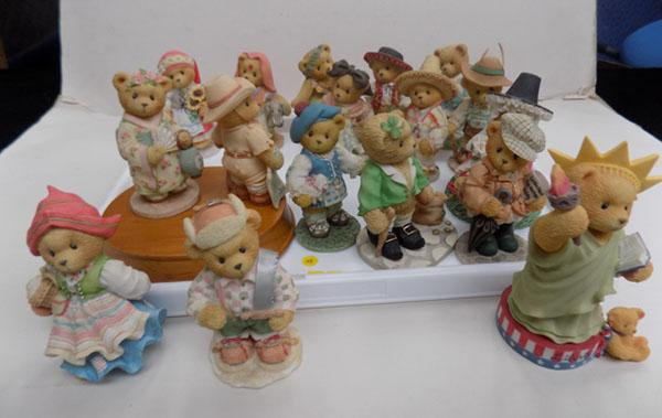 "Tray of ""National Costume"" cherished teddies"