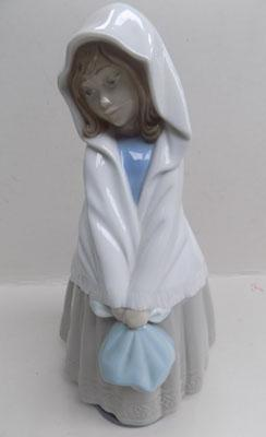 NAO by Lladro young girl with bag