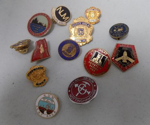 Small box of Miners badges