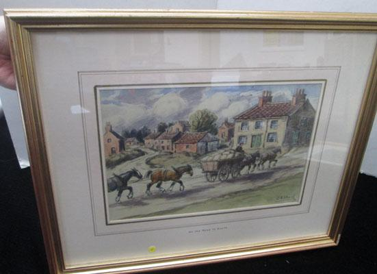 On the Road to Snaith original water colour by George Anderson Short