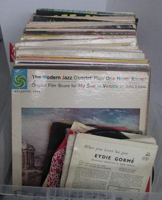 Box of records/LPs/singles/78s
