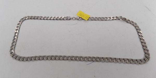 Silver curb link neck chain -30gm
