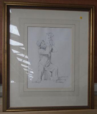 Signed original drawing by John E Blakey