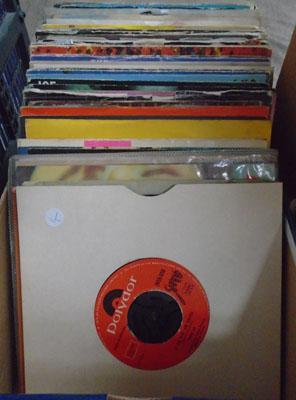 Box of 45s Punk & New-wave