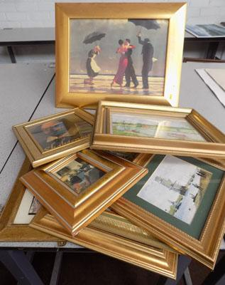 Box of gold frames