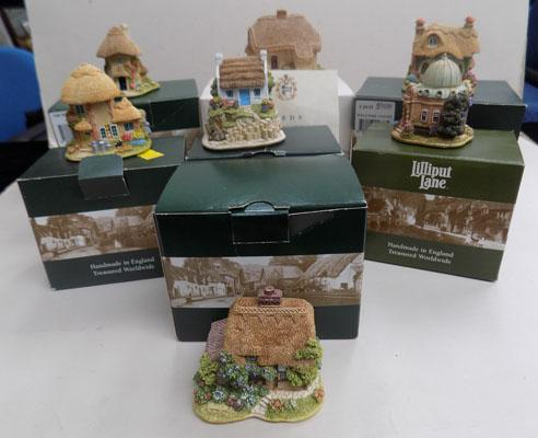 Collection of 7 boxed Lilliput Lane