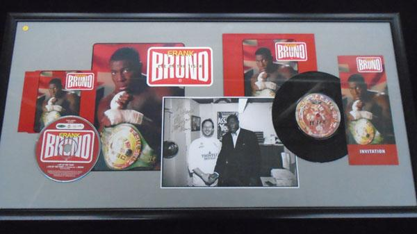 "Frank Bruno ""Eye of the Tiger"" signed montage"