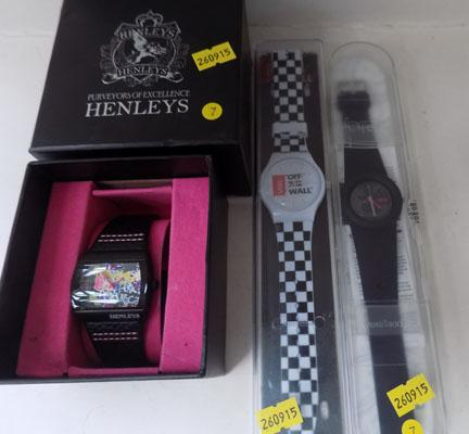 Breo (time) Vans (Off the wall) Henley (Numbers) watches all unused