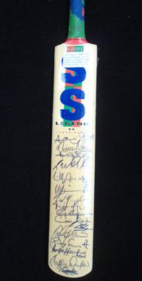 Signed West Indies cricket bat