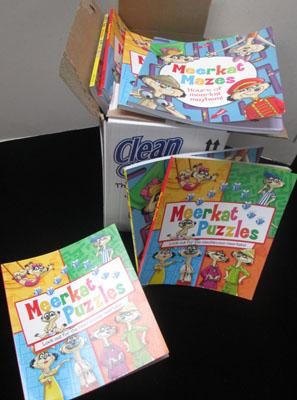 Box of Meerkat puzzle books