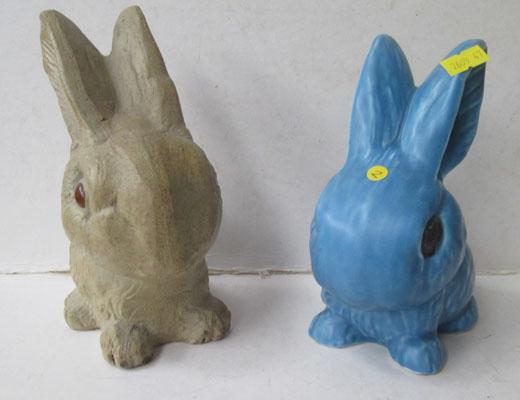 Pair of ceramic rabbits - incl: Sylvac