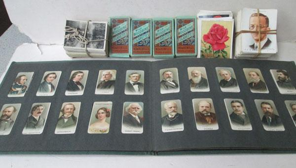 Selection  of cigarette cards