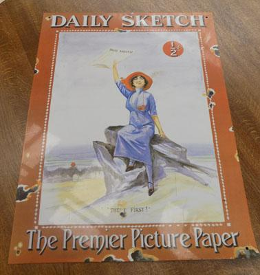 Daily Sketch tin plate sign