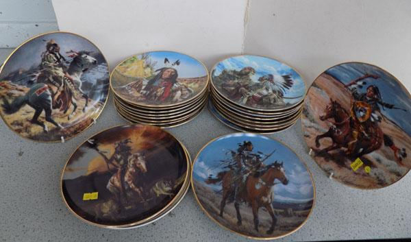 Collection of ltd. ed. Franklin mint plates