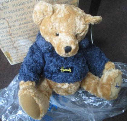 Harrod's teddy bear in box