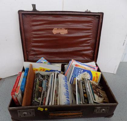 Vintage case filled with emphemeria