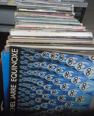 Large box LP records