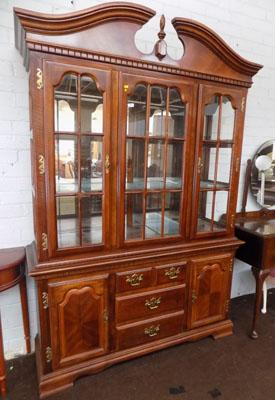 Large glass fronted display cabinet
