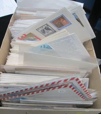 Boxes of First Day Covers World
