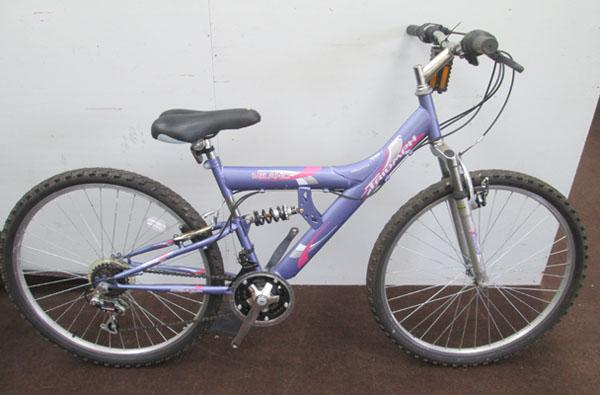 "Triumph Milano ladies purple 26"" full suspension 15 gears bike"