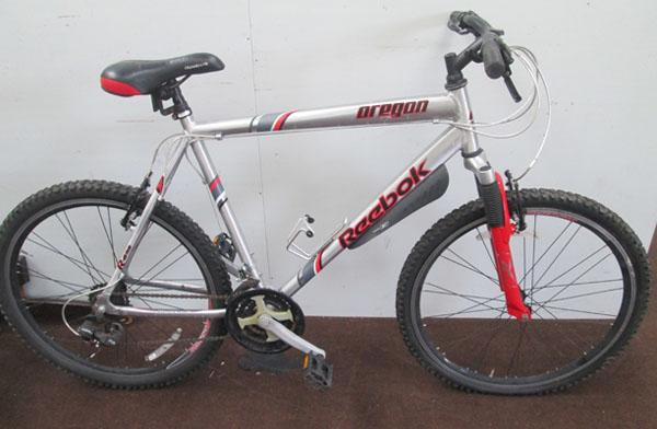 "Reebok Oregon silver 26"" hardtail 21 gears bike"