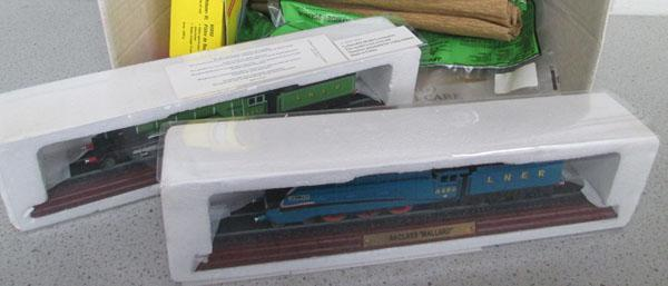 Model Mallard/Flying Scotsman + other railway items