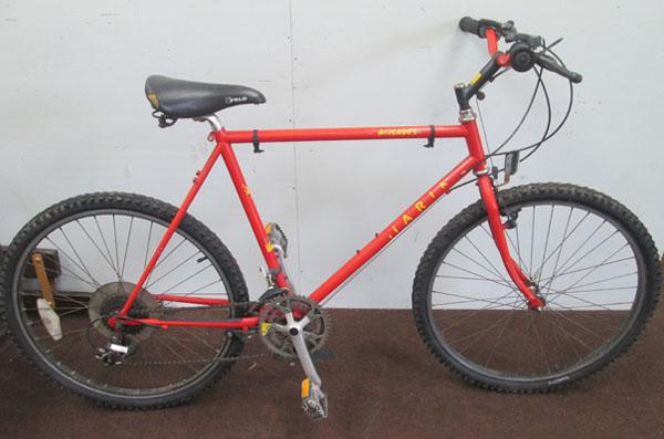 "Marin Pailsdes orange 26"" rigid 18 gears bike"