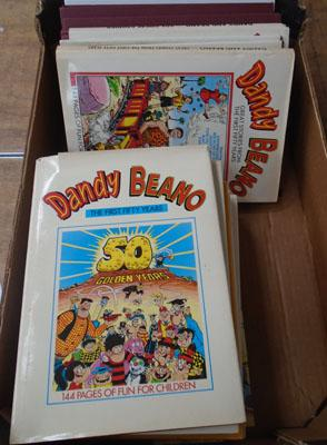 Box of Dandy and Beano annuals