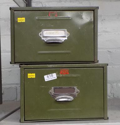 2 x army filing drawers