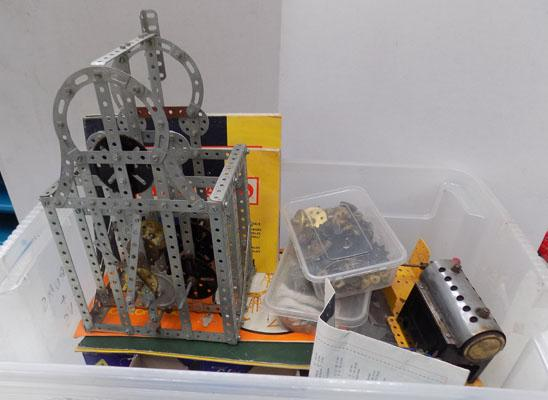 Old Meccano clock/boilerhouse/others + old catalogues