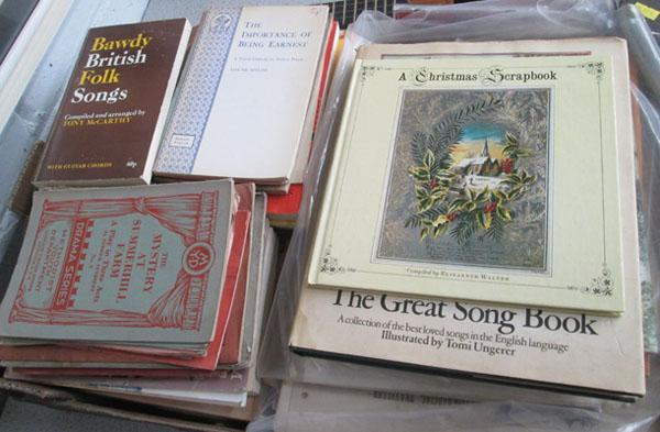 Box of Vintage folk & ballard song books and sheet music