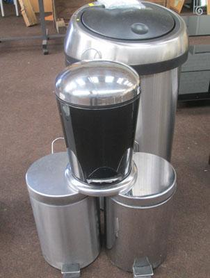 4 chrome pedal bins