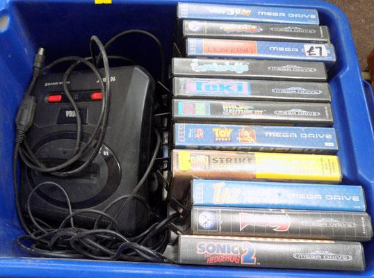 Sega game console + games
