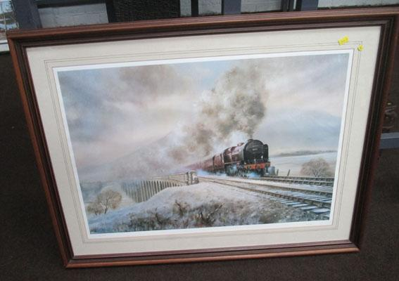 "CA Lokie ""Scot at Ribblehead"" signed print 123/525"