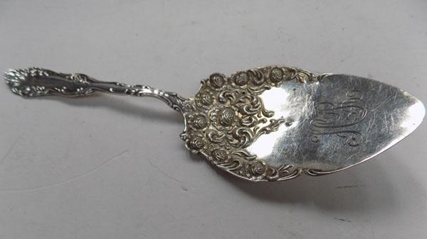 Sterling silver cake server by E Scheuer