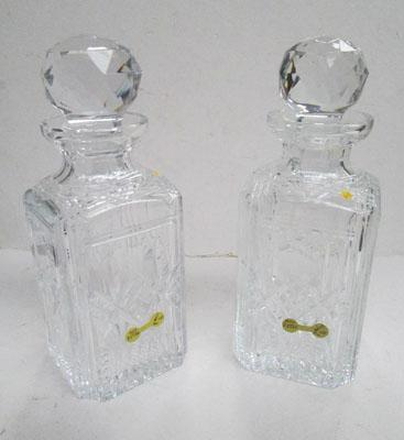 Pair of crystal decanters