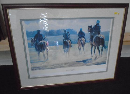 Racing print 'Morning exercise' Adrian Dent