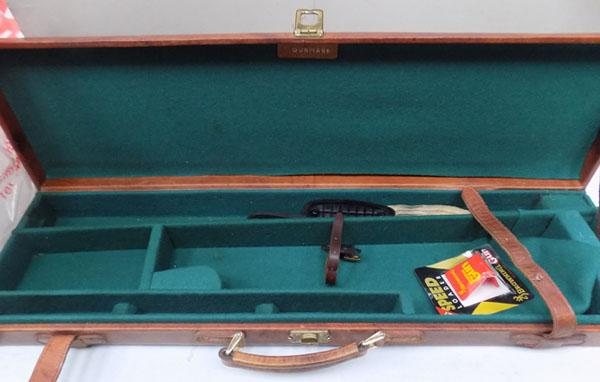 Quality leather shot gun case