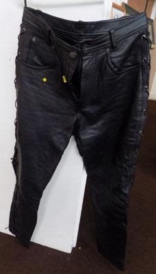 Leather motorbike trousers- large