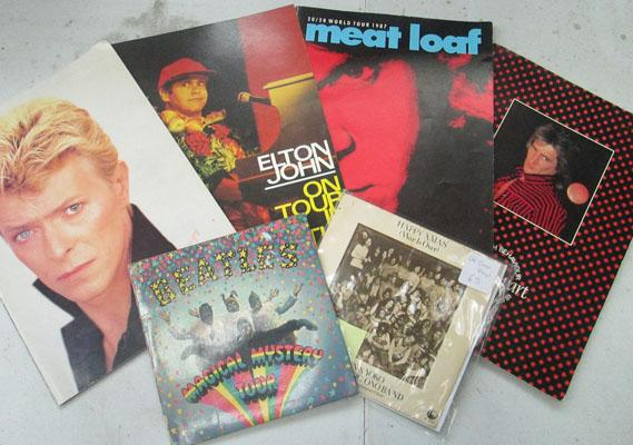 Collection of concert programmes-Bowie, Meat Loaf
