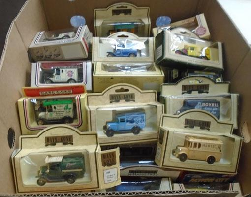 Box of Days Gone die cast cars