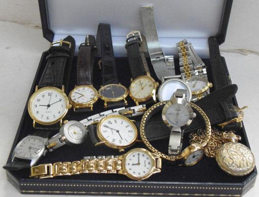 Collection of ladies & gents watches, Rotary, Sekonda etc