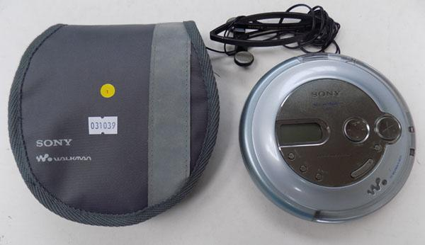 Sony CD walkman with headphones and case w/o