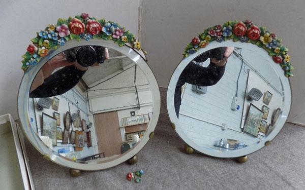2 Vintage mirrors (1 at fault)