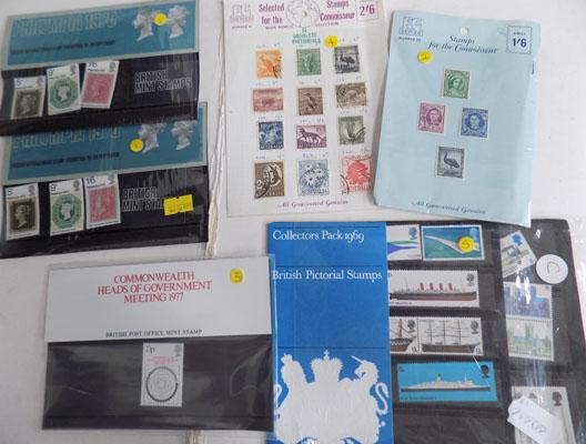 Collection of stamps inc Philympia & Connoisseur mint collection