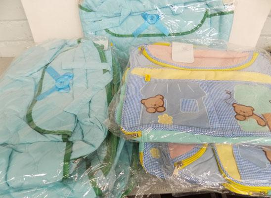 Collection of 9 baby bags-blue