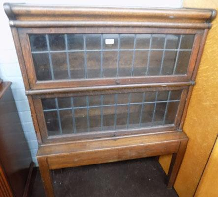 Vintage quality globe Wernicke style cabinet