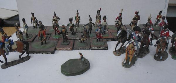 Box of soldiers on horse back